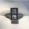 1.80ctw Art Deco French Cut Diamond Twin Stone Ring 31