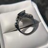 1.80ctw Art Deco French Cut Diamond Twin Stone Ring 35