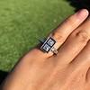 1.80ctw Art Deco French Cut Diamond Twin Stone Ring 16