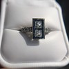 1.80ctw Art Deco French Cut Diamond Twin Stone Ring 26