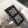 1.80ctw Art Deco French Cut Diamond Twin Stone Ring 37