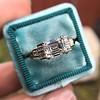 1.83ct Vintage Emerald Cut Ring GIA F VVS2 12