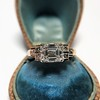 1.83ct Vintage Emerald Cut Ring GIA F VVS2 9
