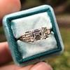 1.83ct Vintage Emerald Cut Ring GIA F VVS2 14