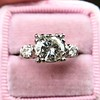 1.85ctw Vintage Early Round Brilliant Diamond Ring 10
