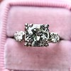 1.85ctw Vintage Early Round Brilliant Diamond Ring 12