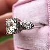 1.85ctw Vintage Early Round Brilliant Diamond Ring 14