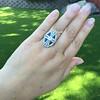 1.88ctw Art Deco style Saphhire and Diamond Dinner Ring 18