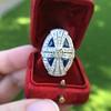 1.88ctw Art Deco style Saphhire and Diamond Dinner Ring 10