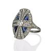 1.88ctw Art Deco style Saphhire and Diamond Dinner Ring 1