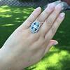 1.88ctw Art Deco style Saphhire and Diamond Dinner Ring 17