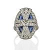 1.88ctw Art Deco style Saphhire and Diamond Dinner Ring 0