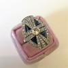 1.88ctw Art Deco style Saphhire and Diamond Dinner Ring 19
