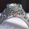 1.88ctw Platinum Filigree Solitaire Ring by C.D. Peacock, GIA S-T, VS 25