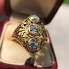 1.90ctw Art Nouveau Trilogy Ring 6