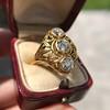 1.90ctw Art Nouveau Trilogy Ring 21