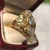 1.90ctw Art Nouveau Trilogy Ring 9