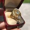1.90ctw Art Nouveau Trilogy Ring 20