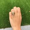 1.90ctw Art Nouveau Trilogy Ring 18