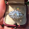 1.95ct Old European Cut Diamond Art Deco Ring, GIA L SI1 1