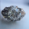 1.95ct Old European Cut Diamond Art Deco Ring, GIA L SI1 10