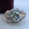 1.95ct Old European Cut Diamond Art Deco Ring, GIA L SI1 15