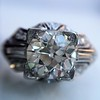 1.95ct Old European Cut Diamond Art Deco Ring, GIA L SI1 0