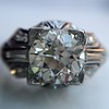 1.95ct Old European Cut Diamond Art Deco Ring, GIA L SI1 12