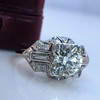 1.95ct Old European Cut Diamond Art Deco Ring, GIA L SI1 4
