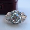 1.95ct Old European Cut Diamond Art Deco Ring, GIA L SI1 16