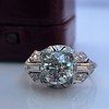 1.95ct Old European Cut Diamond Art Deco Ring, GIA L SI1 18