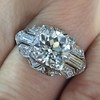 1.95ct Old European Cut Diamond Art Deco Ring, GIA L SI1 3