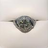 1.96ct Art Deco Old European Cut Diamond Dome Ring 18