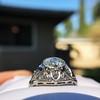 1.96ct Art Deco Old European Cut Diamond Dome Ring 13