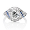 1.96ct Art Deco Old European Cut Diamond Dome Ring 0
