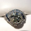 1.96ct Art Deco Old European Cut Diamond Dome Ring 30