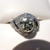 1.96ct Art Deco Old European Cut Diamond Dome Ring 31