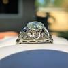 1.96ct Art Deco Old European Cut Diamond Dome Ring 6