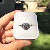 1.96ct Art Deco Old European Cut Diamond Dome Ring 9