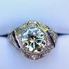 1.96ct Art Deco Old European Cut Diamond Dome Ring 10