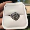 1.96ct Art Deco Old European Cut Diamond Dome Ring 24