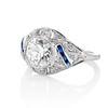 1.96ct Art Deco Old European Cut Diamond Dome Ring 1
