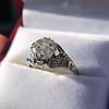 2.00ct Art Deco Asscher Cut Diamond Ring GIA J SI1 57