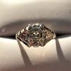 2.00ct Art Deco Asscher Cut Diamond Ring GIA J SI1 35