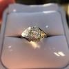 2.00ct Art Deco Asscher Cut Diamond Ring GIA J SI1 69