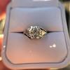 2.00ct Art Deco Asscher Cut Diamond Ring GIA J SI1 31