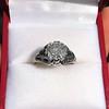 2.00ct Art Deco Asscher Cut Diamond Ring GIA J SI1 48
