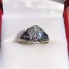 2.00ct Art Deco Asscher Cut Diamond Ring GIA J SI1 49