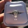 2.00ct Art Deco Asscher Cut Diamond Ring GIA J SI1 60
