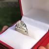 2.00ct Art Deco Asscher Cut Diamond Ring GIA J SI1 2